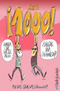 1000 likes en rosa